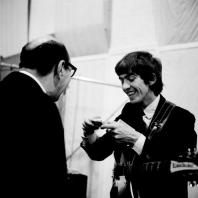 George 45 - George Harrison on the set of 'A Hard Day's Night', 1964.