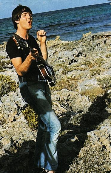 Paul 182 - Paul McCartney filming Help! in the Bahamas, 1965.